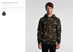 * NEW * AS Colour Camo Stencil Pullover Hoodie 5102C All Sizes