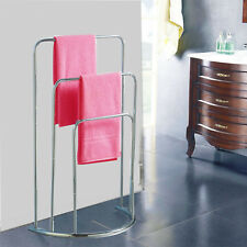 Towel Holder 3 Tier Bar Freestanding Bathroom Drying Rack Hanger Storage Unit