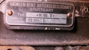 Mercedes-Benz M189 engine 189.986-12-001015 with correct 300SE DB  Automatic