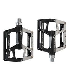 "RockBros MTB Bike Cycling Aluminum Alloy 3 Sealed Bearings 9/16"" Pedals Black"