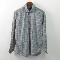 Robert Graham Tailored Fit Shirt Long Sleeve Button Front Mens Large L