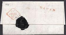 1833 Irish entire letter To M.P. Mr R Plunkett with a Navan 23 mileage pmk