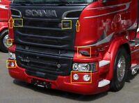 Scania R P G Series Truckstyling Chrome Cover Set 10 pcs. Stainless Steel