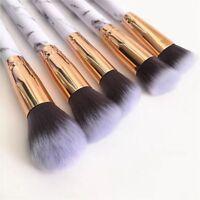 10pcs Marbling Make-up Brush Set Kabuki Professional Brushes Blusher Face Powder