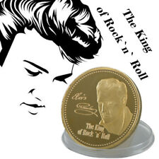 WR King of Rock & Roll Elvis Presley 24K Gold Challenge Coin Pop Music Souvenir