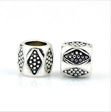 5PCS Charm Alloy  Big Hole Beads fit European Silver Bracelet DIY