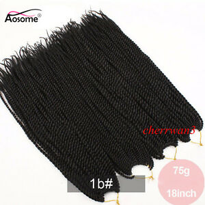 18'' Kanekalon Micro Senegalese Pre Twist Crochet Braid Hair Extensions Black