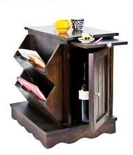 TimberTaste CLARA Solid Sheesham Wood Dark Walnut Corner Side Accent End Table