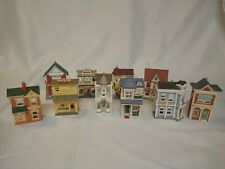 10Pc Lot Hallmark Ornaments Nostalgic Houses & Shops incl first 6 in series 1984