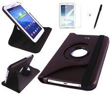 Hülle f Samsung Galaxy Tab 3 7.0 SM-T210 Leder-Imitat Tasche Case braun brown