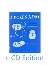 A Dozen a Day Piano Book by Edna-mae-Burnham  One / Two with CD pack