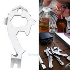 20 In1 Stainless Steel Screwdriver Wrench Opener Key Chain EDC Pocket Multi Tool