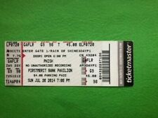 Phish ticket stub 7/20/14 Firstmerit Bank Pavilion The Chicago Wedge! GA Floor!