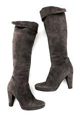 Progetto Bottes 37 gris marron daim talons hauts brassards Bottes comme NEUF Boots