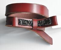 Esprit Rotbrauner Leder-Gürtel 20 mm breit Gr. 85 mit Schleife