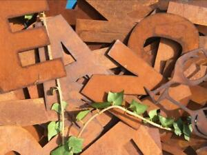 """Rusty Letters """"WELCOME YEW INN"""" 6"""" sign"""