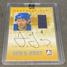 2008 BAP ITG Jaromir Jagr Auto Game Used Jersey /50 Signed Autograph