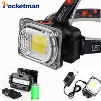 Rechargeable COB LED Headlamp Adjustable Torch Head Lamp 18650 Headlight