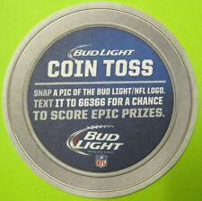 BUD LIGHT COIN TOSS, NFL Football LOGOS Beer COASTER, Mat, MISSOURI, 2015 issue