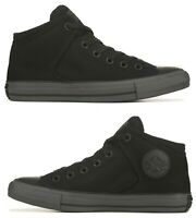 New CONVERSE Chuck Taylor Street Mid Athletic Sneakers Hi Top Mens black gray