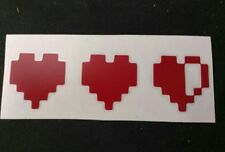 Gamer Life hearts - Zelda Decal/ Sticker 5 x 2