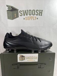 Puma King Pro FG Mens Sz 8 Triple Black Soccer Cleats Kangaroo Leather 105608 01