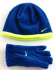 Nike Blue   Volt Fleece Beanie Skull Cap   Fleece Gloves Boy s ... 5b3c7200b34d