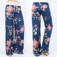 Women High Waist Trousers Flare Wide Leg Long Loose Harem Comfy Yoga Pants Plus