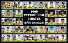 PITTSBURGH PIRATES 1960 World Series Vintage Baseball Card Custom Poster Decor