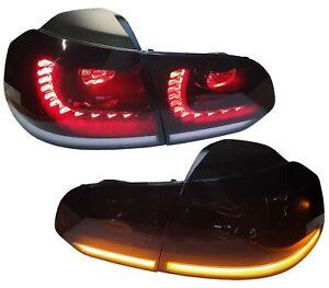LED RÜCKLEUCHTEN schwarz VW GOLF 6 VI 08-12 HECKLEUCHTEN DYNAMISCHER LED BLINKER
