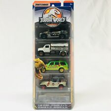 2018 MATCHBOX JURASSIC WORLD LEGACY Fallen Kingdom 5 Pack JEEP MOVIE COLLECTION
