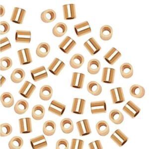 14k Gold Filled Crimp Beads 2 X 2mm (96)
