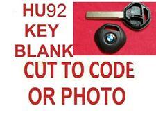 BMW 3 SERIES X3 X5 HU92R ROVER 75  BLANK KEY FOB FOB CUT TO PHOTO OR CODE