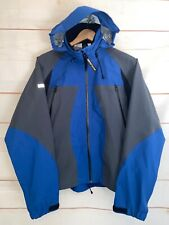 Mens GORE TEX W.L. Gore Softshell Test Team Jacket Zip Up Coat Blue Gray Medium