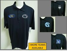 New Sz S-3XL Navy Blue Solid Ncaa Mens Performance Polyester #44C Polo Shirt