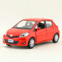 1:36 Toyota Yaris Die Cast Modellauto Spielzeug Model Sammlung Pull Back Rot