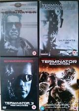 TERMINATOR QUADRILOGY Parts 1,2,3,4 Schwarzenegger Complete 6 Disc DVD Set *EXC*