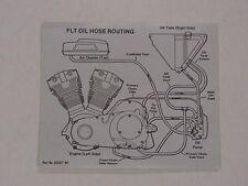 HARLEY DAVIDSON MOTORRAD ÖL SCHLAUCH LEITUNG Aufkleber für 1980 FLT (62557-80)