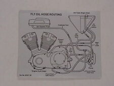 Moto durite huile routage AUTOCOLLANT POUR HARLEY DAVIDSON FLT (62557-80)