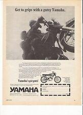 Yamaha YAS-1 125 Sport classic period motorcycle advert 1970