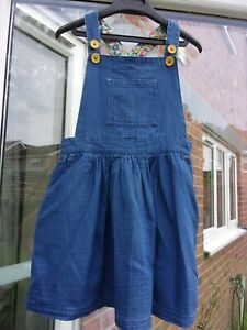 MINI BODEN - Girl's Blue Pinafore Dress -   Age 5-6 Years