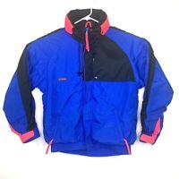 Vintage Columbia Men's Size L Blue Coral Criterion Ski Jacket Coat Radial Sleeve