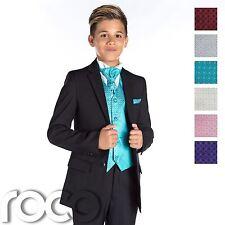 RAGAZZI Nero Suit, pagina Ragazzo Suit, Ragazzi Matrimonio Suit, Nero Suit, Slim Fit Suit