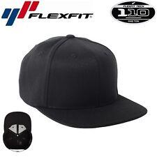 Flexfit 110F One Ten Snapback Black Snapback Cap Schwarz