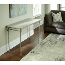 Folding Utility Table Extra Space TV Sturdy Tan Home Rectangle Outdoors Indoors