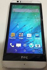 HTC Desire 510 4G LTE  White Boost  Mobile Android Smartphone Crack in Glass