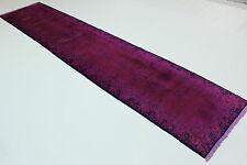 Exclusivo Vintage Precioso Fucsia Aspecto Usado Persa 4,80 X 1,00