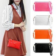 Womens Shoulder Coin Bag Handbag PU Sequins Crossbody Mini Clutch Pure Wristlets