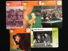 Sportscaster & Grolier Cards Billiards: Mosconi,Ceulemans,Origins....5 Cards!!!