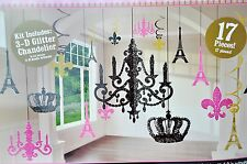 Day in Paris Glitter Chandelier Decoration Kit Wedding Birthday Party Supplies